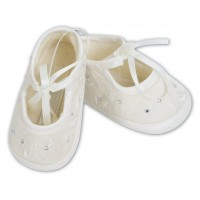 Sarah Louise Diamante Christening Shoes