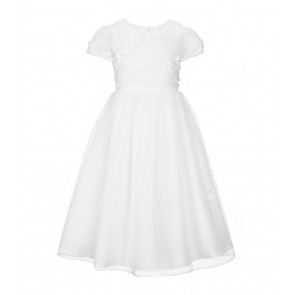 Bonnie Jean Floral Organza Jacket Communion Dress Set