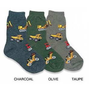 Country Kids Boys Bulldozer Sock