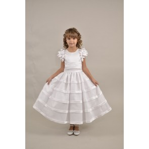 Satin Holy Communion Dress by Sweetie Pie
