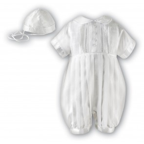 Sarah Louise Ceremonial 2 Piece Romper and Hat Set