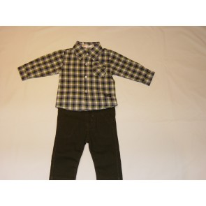 Babybol 2  Piece Check Shirt and Trouser Set