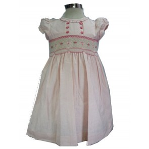 Hand Smock Cotton Dress
