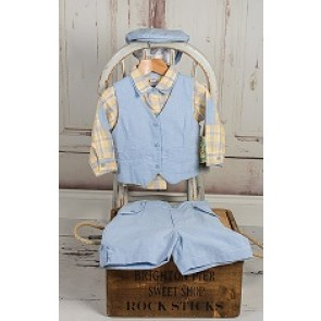 Couche Tot Baby Boys Waist Coat Set