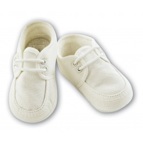 Sarah Louise Baby Boy Cotton Christening Shoes