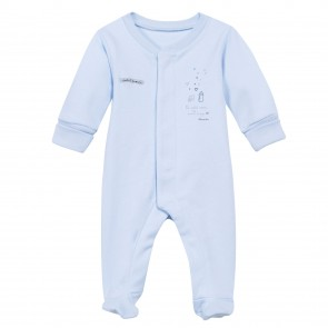 Absorba White Cotton Sleepsuit