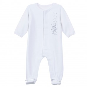 Absorba Baby White Velvet Playsuit