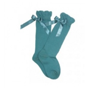 Abella Knee High Teal Socks