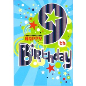 Age 9 Male Birthday Card