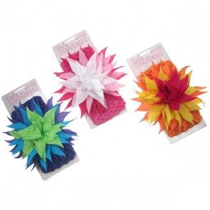 Infants Crochet Multi Coloured Headband with Large Flower by Soft Touch