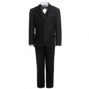 Romano Boys Three Piece Dinner Suit with Piping