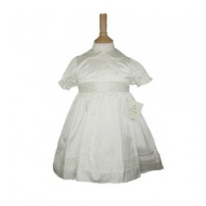 Little Darlings Girls Silk Christening Dress Set