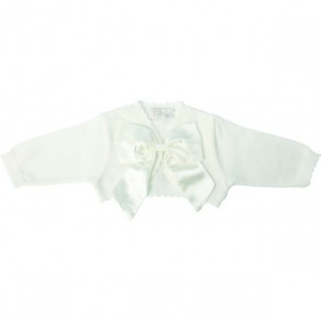 Little Darlings Christening Knitted Cardigan With Bow