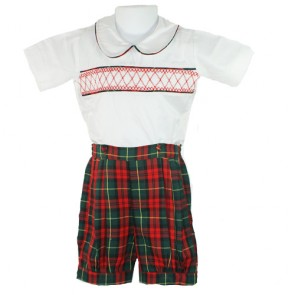 Mafana Eton Suit with Tartan Shorts
