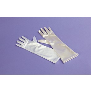 Plain Long Satin Gloves