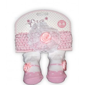 Chloe Louise Infants Socks and Headband Set
