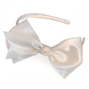 Satin Traditional Bow Headband