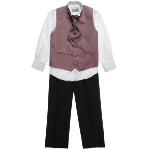 Vianni Collection Baby Boys Waistcoat 4 Piece Set