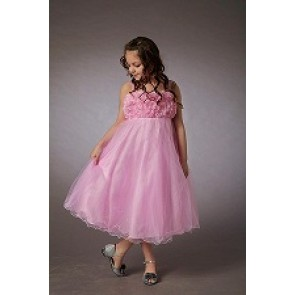 Pink Flower Girl Dress by Couche Tot