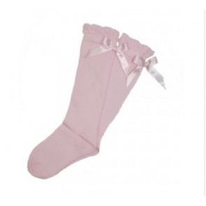 Abella Knee High Socks with Satin Bow