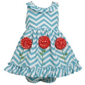 Bonnie Jean Girls Sleeveless Chevron Applique Dress