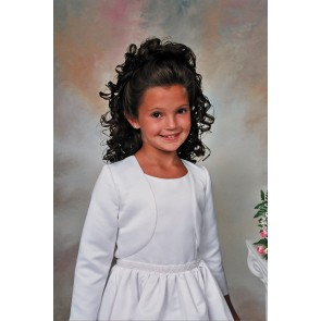 Sweetie Pie Collection- Girls White Bolero