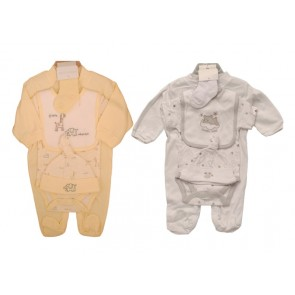 Unisex Baby Cotton Bodysuit Set