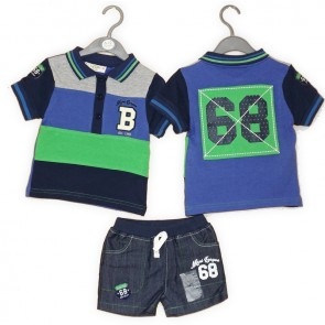 Lily & Jack Polo Shirt and Shorts Set
