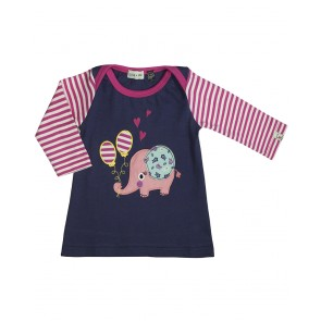 Lilly + Sid Nancy Elephant Applique Jersey Dress