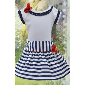 Striped Skirt with Matching Top by Pretty Originals