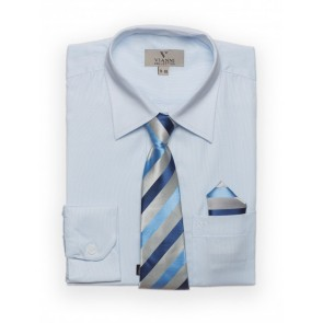 Vianni Collection Boys shirt, tie & handkerchief set