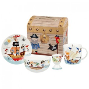 Pirates of the Severn Seas 4 Piece Set by Churchill China