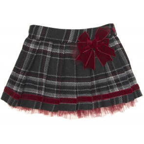 Piccola Speranza Check Skirt