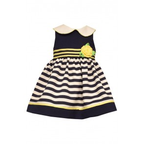 Bonnie Jean Peter Pan Stripe Nautical Dress