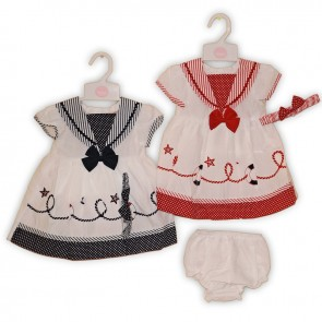 Baby Girls Three Piece Sailor Dress Set
