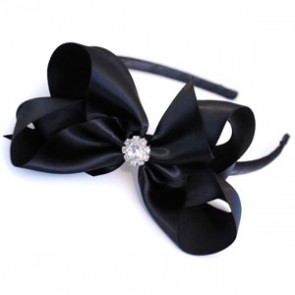 Satin Crytstal Headband by Candy Bows