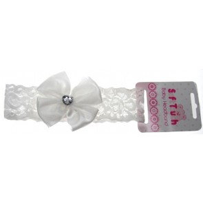 Soft Touch Ivory Lace Headband
