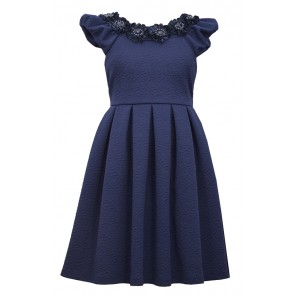 Bonnie Jean Knit Jaquard Dress