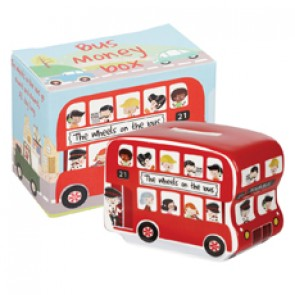Wheels on the Bus Money Box by Churchill China